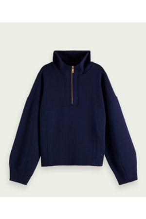 Scotch&Soda Navy Structured Anorak Sweater