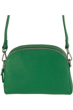 Fioriblu Viola Emerald Green Leather Handbag