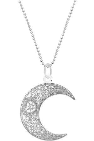 CarterGore Large Mandala Moon Pendant Necklace