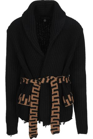 Alanui Tie-fastening knitted cardigan