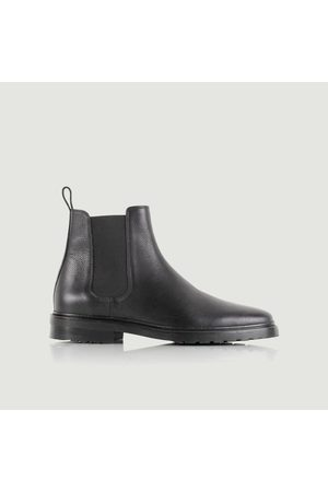Bobbies Conrad grained leather Chelsea boots Caviar