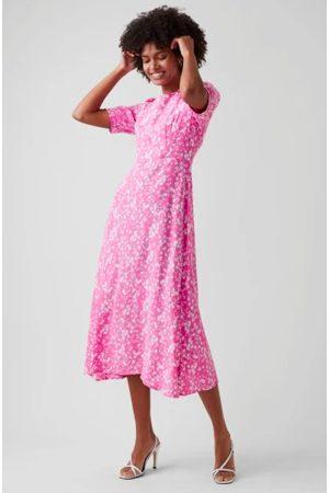 Great Plains Ditsy Round Neck Dress - Pop