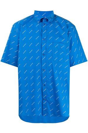 Balenciaga Men Short sleeves - Logo Print Short Sleeve Shirt