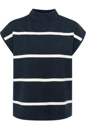 YAYA Women Tops - Carbon Striped Cap Sleeve Knit