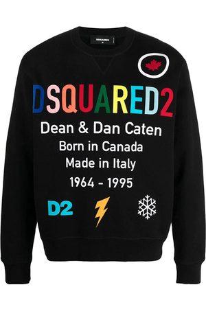 Dsquared2 Men Long sleeves - Men's logo-print long-sleeve sweatshirt