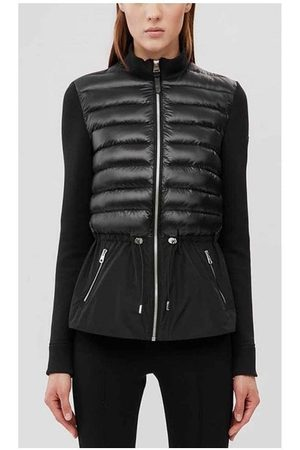 Mackage Women Outdoor Jackets - Joyce-Z Mixed Media Drawstring Jacket Colour: