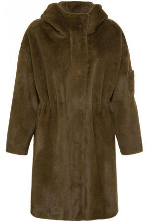 MAX & MOI Madinette Faux Fur Parka XS, Colour: Khaki