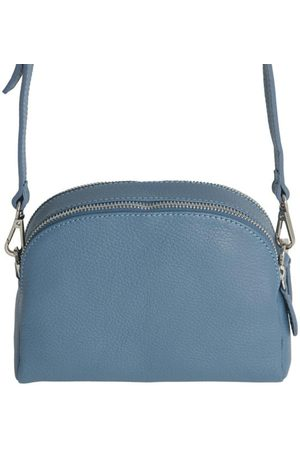 Fioriblu Viola Mid Blue Leather Handbag