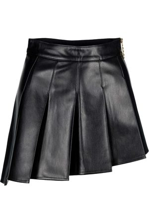 GCDS Asymmetrical faux leather skirt