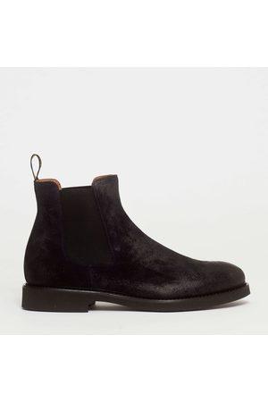 Doucal's Men Shoes - Stivaletto con elastici laterali in camoscio blu fondo in gomma extralight 30 mm