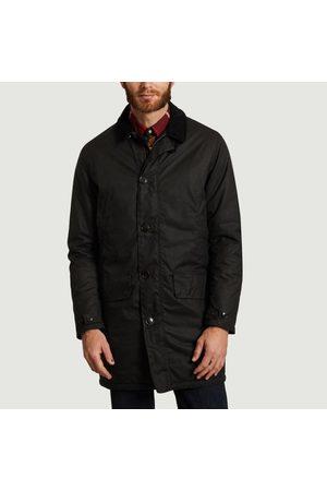 Barbour Wax Mac Coat Navy Midnight