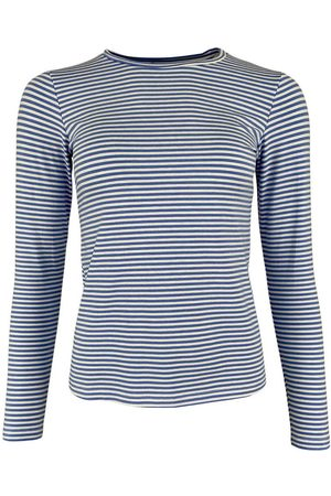 Black Colour Polly striped t-shirt, Title: BLUE