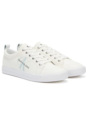 Calvin Klein Men Sneakers - Jeans Vulcanized Lace Up Mens Trainers