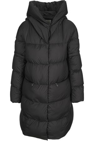 ADD Women Jackets - Hooded long down coat with detachable sleeves