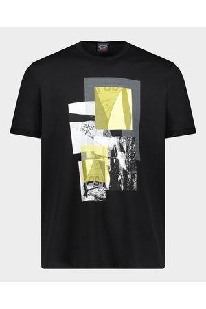 Paul & Shark Men Short Sleeve - Organic Cotton T-Shirt With Regatta Print