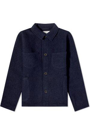 Universal Works Men Fleece Jackets - Wool Fleece Lumber Jacket