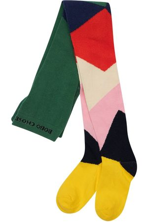 Bobo Choses Girls Stockings - Color Block Cotton Blend Tights