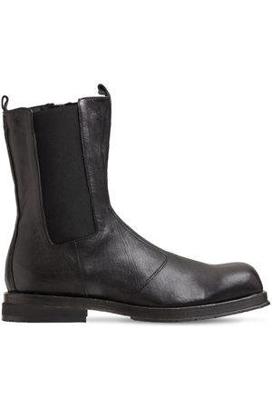 ERNESTO DOLANI Ruvido Leather Chelsea Boots