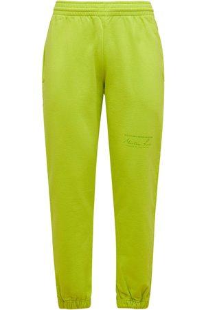 MARTINE ROSE Men Sweatpants - Cotton Jersey Slim Sweatpants