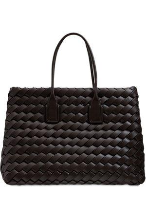 Bottega Veneta Women Tote Bags - Maxi Snap Intreccio Tote Bag