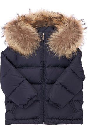 Il gufo Nylon Down Jacket W/ Fur Trim