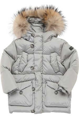 Il gufo Boys Jackets - Nylon Down Jacket W/ Fur Trim