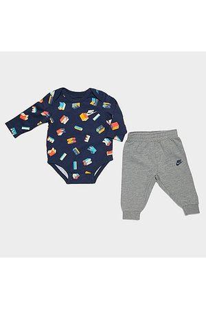Nike Bracelets - Boys' Infant Friendship Bracelet Bodysuit and Jogger Pants Set in /Grey/Navy Size 0-3M