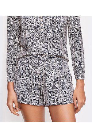 LOFT Petite Cheetah Print Pajama Shorts