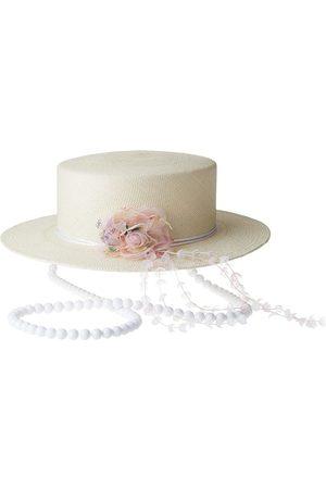 Le Mont St Michel Kiki appliqué fedora hat - Neutrals