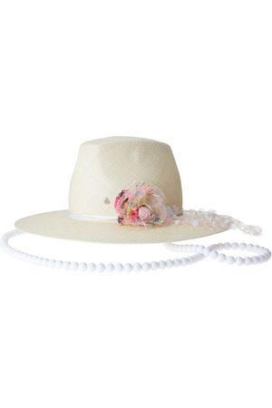 Le Mont St Michel Women Hats - Kyra appliqué fedora hat - Neutrals