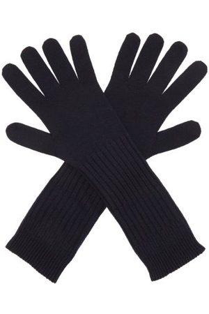 Jil Sander Ribbed Wool Gloves - Mens - Navy