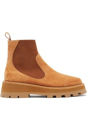 Jimmy Choo Women Chelsea Boots - Clayton Crystal-embellished Suede Chelsea Boots - Womens - Tan