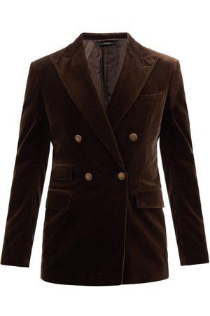 Tom Ford Peak-lapel Cotton-velvet Blazer - Mens