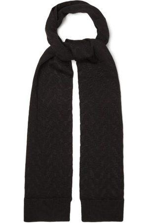 VALENTINO GARAVANI Optical Valentino-jacquard Wool-blend Scarf - Mens