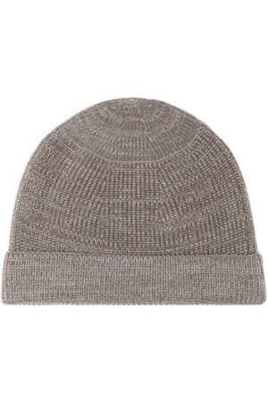 Snow Peak Men Hats - Ribbed Wool-blend Hat - Mens - Grey