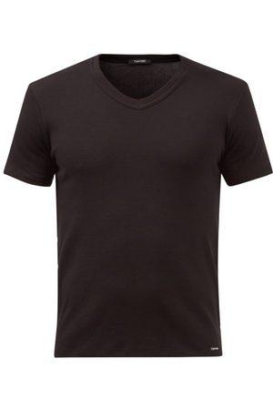 Tom Ford V-neck Cotton-blend Jersey Pyjama Top - Mens