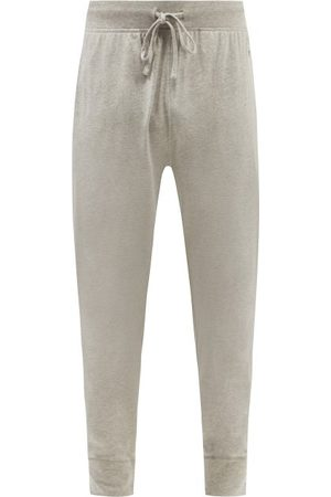 Polo Ralph Lauren Logo-embroidered Cotton-jersey Pyjama Trousers - Mens - Grey