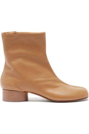 Maison Margiela Tabi Split-toe Leather Ankle Boots - Womens - Nude