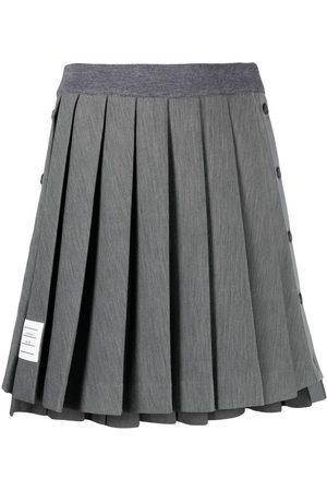 Thom Browne Women Mini Skirts - Pleated mini skirt - Grey