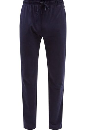 Polo Ralph Lauren Logo-embroidered Cotton-jersey Pyjama Trousers - Mens - Navy