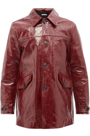 OUR LEGACY Buta Patch-pocket Leather Coat - Mens