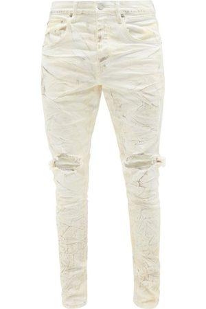 Purple Brand P002 Distressed Coated Slim-leg Jeans - Mens