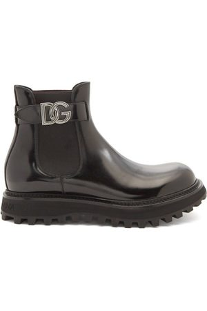 Dolce & Gabbana D & g-buckle Leather Chelsea Boots - Mens