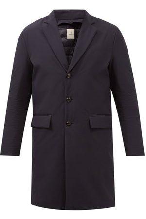 Moncler Pallu Detachable-insert Down Overcoat - Mens - Dark Navy