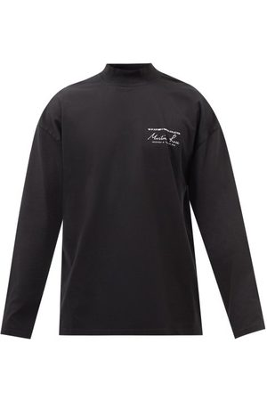 MARTINE ROSE Men Long Sleeve - Logo-print Cotton-jersey Long-sleeved T-shirt - Mens
