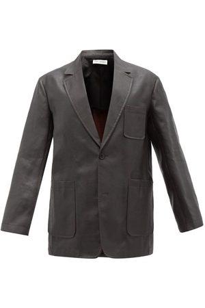 OUR LEGACY Tavern Dyed Silk Suit Jacket - Mens - Dark Grey