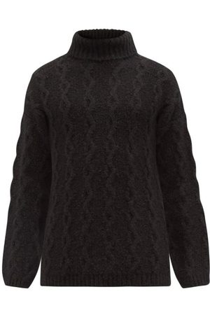OUR LEGACY High-neck Cable-knit Sweater - Mens