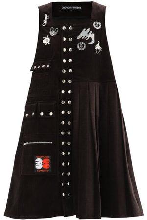 Chopova Lowena Morson Cotton-corduroy Pinafore Dress - Womens