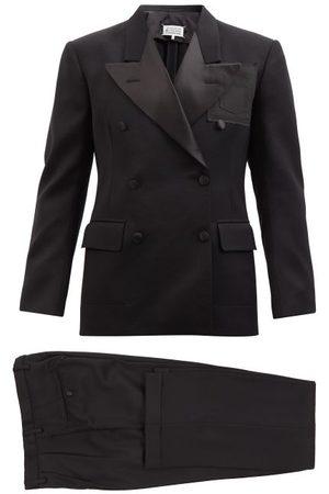 Maison Margiela Men Blazers - Peak-lapel Wool-crepe Tuxedo - Mens