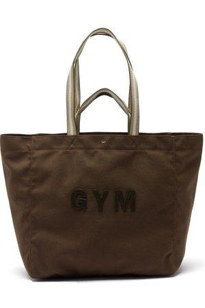 Anya Hindmarch Gym Recycled-fibre Canvas Tote Bag - Womens - Khaki